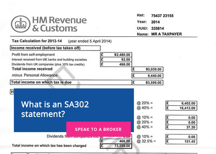 What is an SA302 statement?